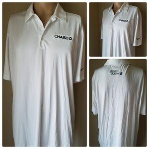 Nike Golf Dri-Fit Men's White Polo Golf Shirt